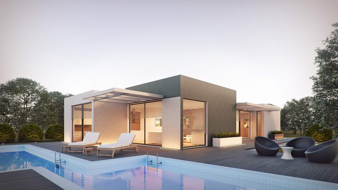 modern architecture render house