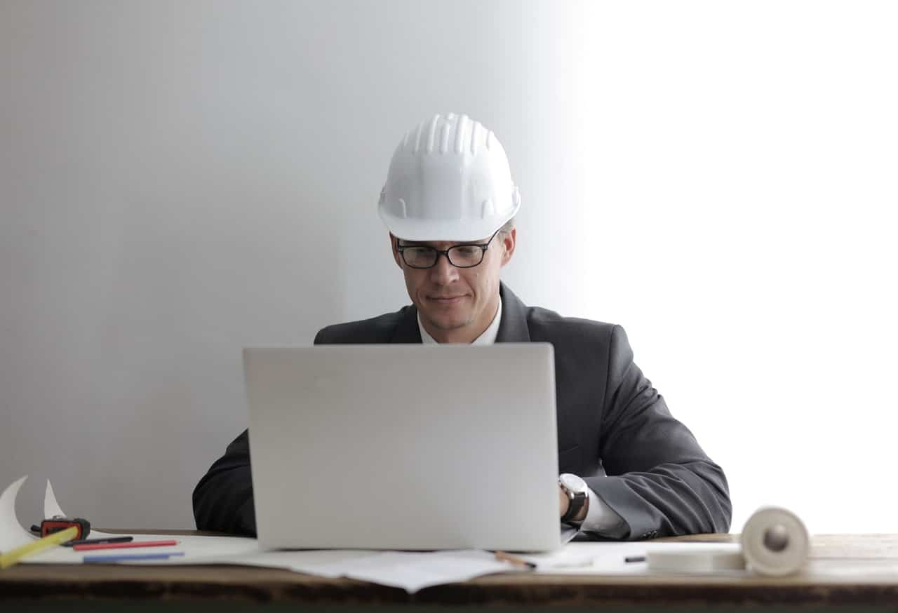 man laptop architect