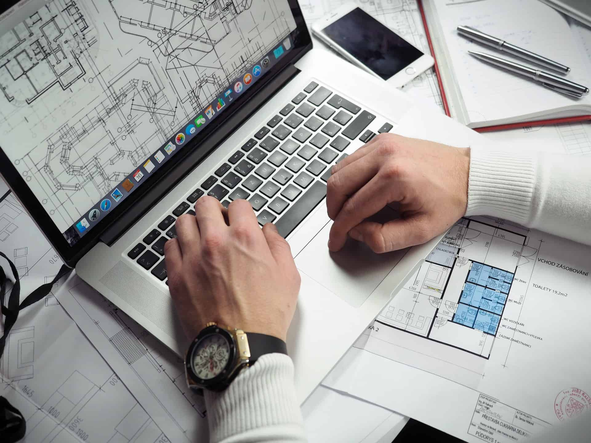 man using software rendering